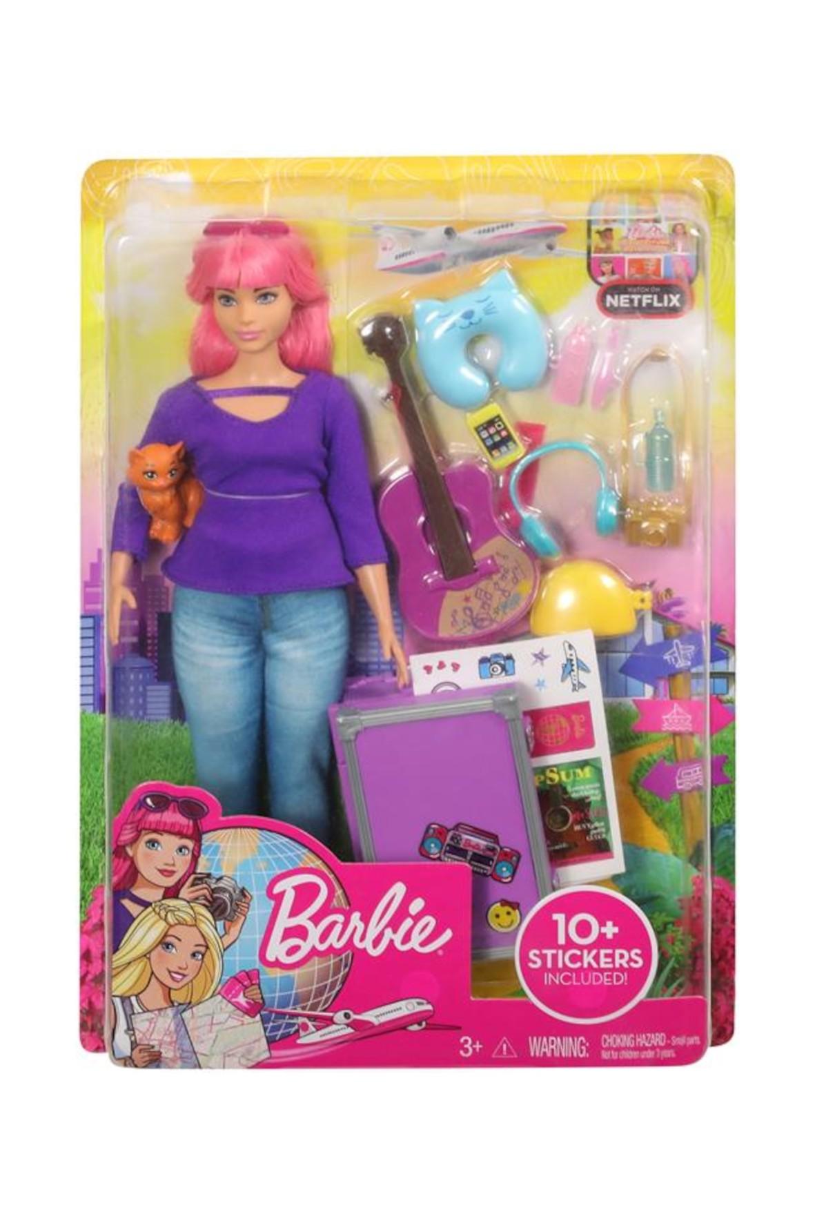 Barbie Dreamhouse Adventures - Lalka Daisy w podróży z kotkiem wiek 3+