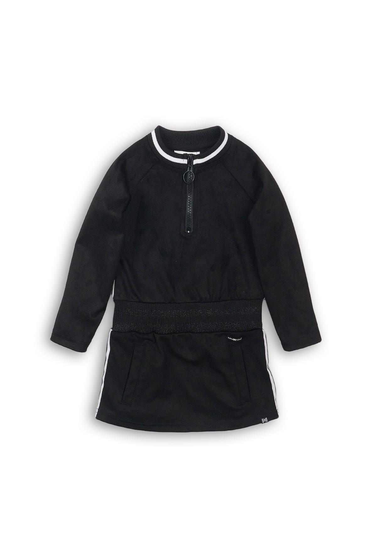 Czarna sportowa tunika dla dziewczynki