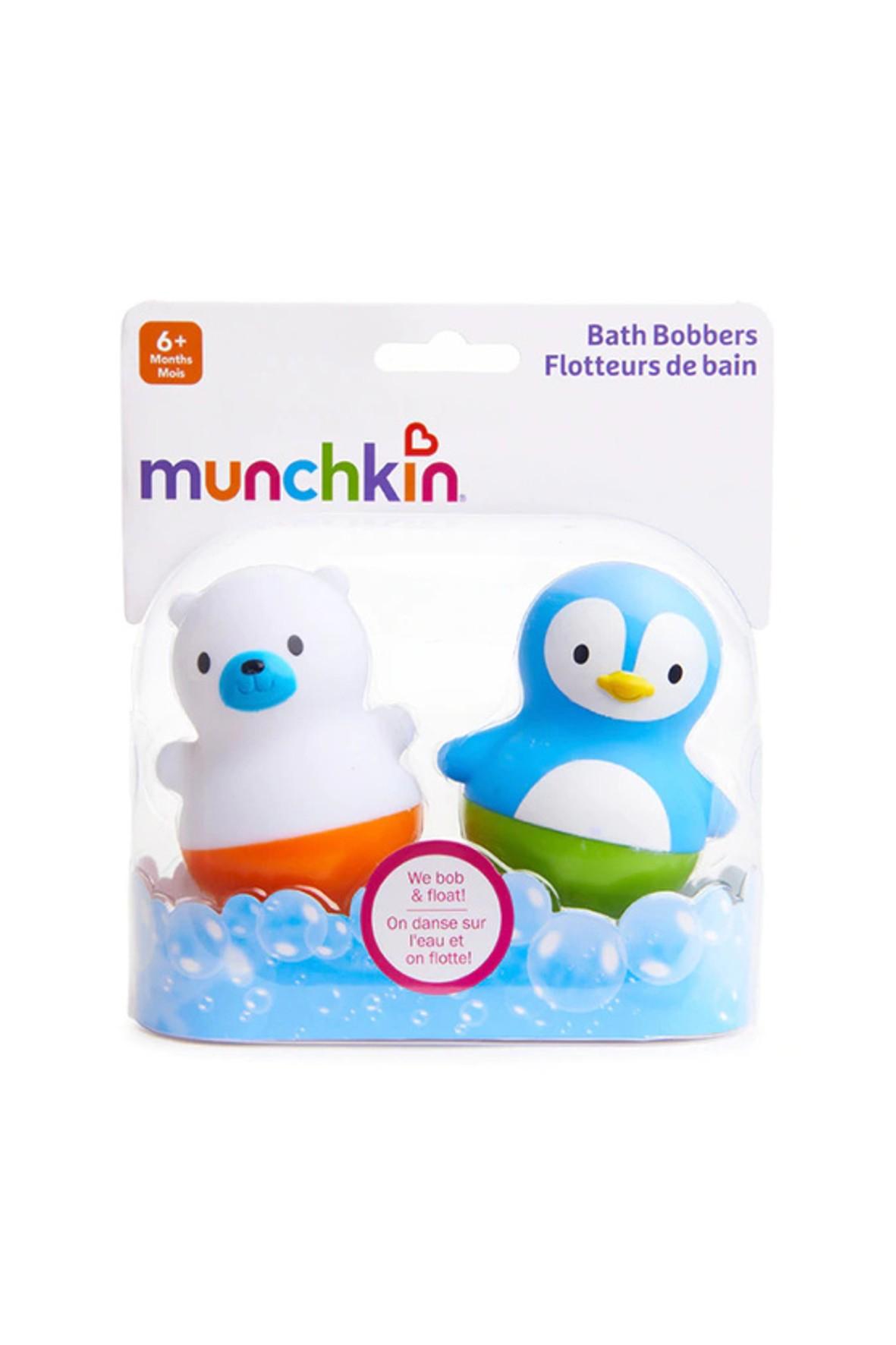 Zestaw zabawek kąpielowych niedźwiadek i pingwin Munchkin 6msc+