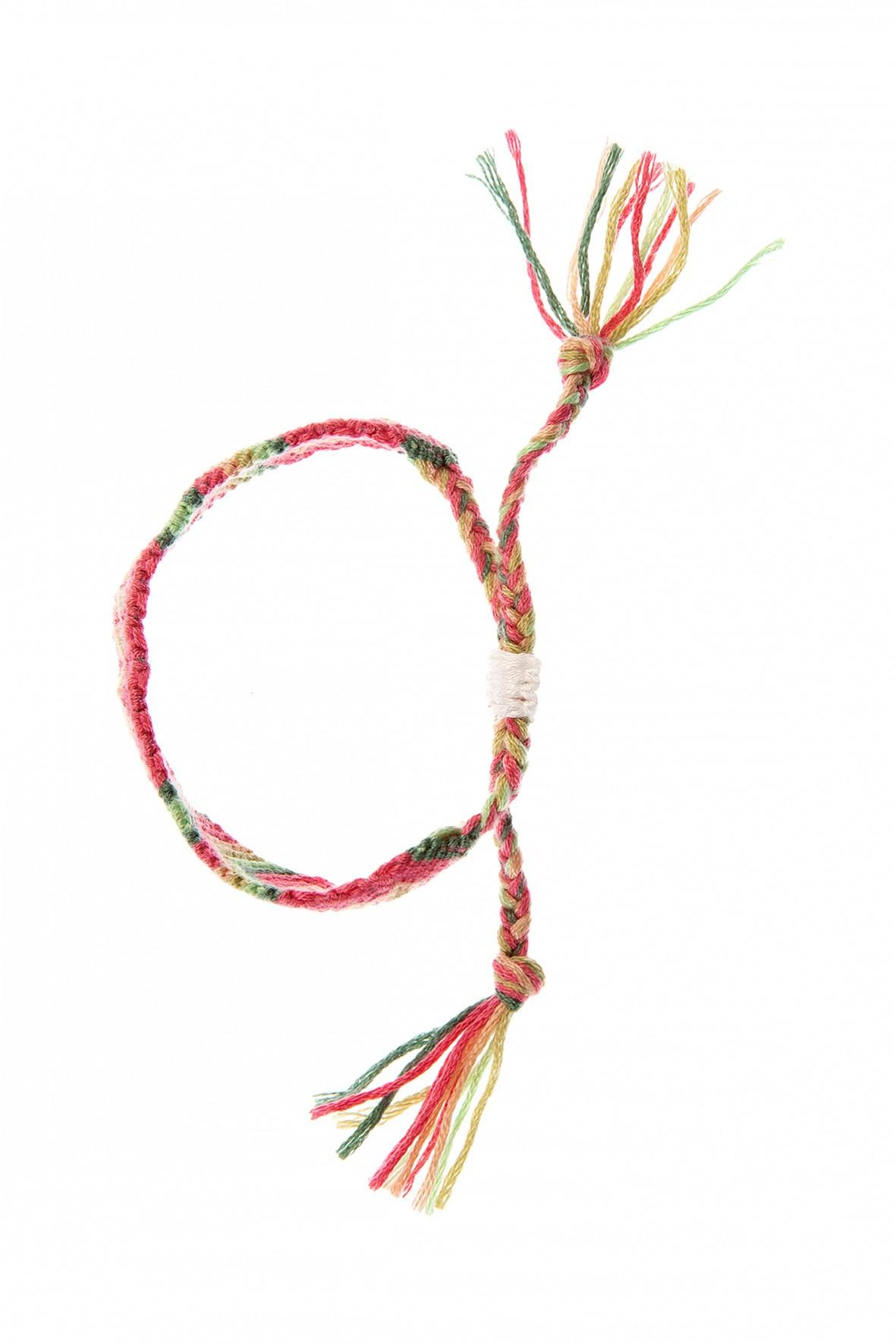 Bransoletka dziewczęca pleciona ze sznurka