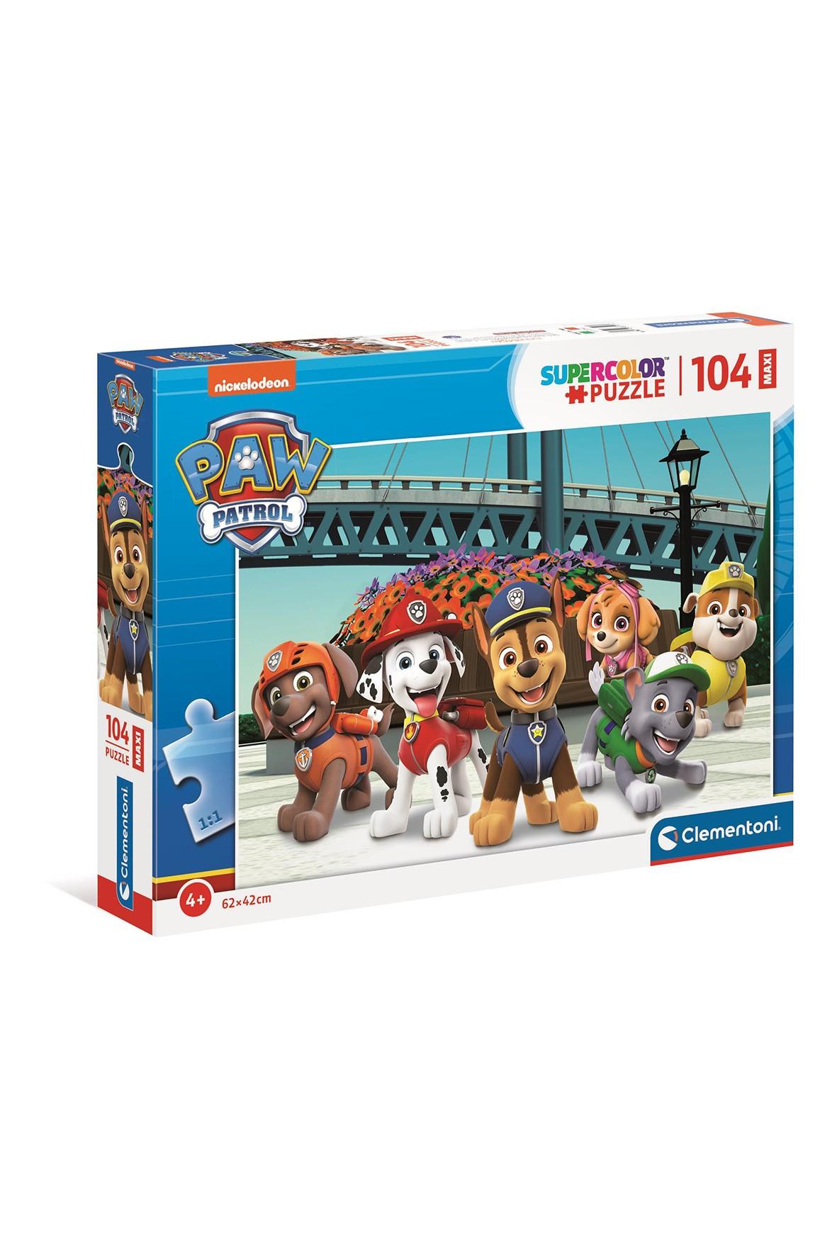 Puzzle Maxi Super Color Psi Patrol - 104 elementy wiek 4+
