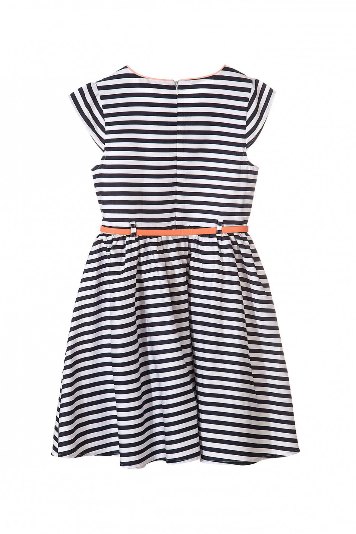 e5faa711d6 Sukienka dla dziewczynki w biało granatowe paski-idealna na ...