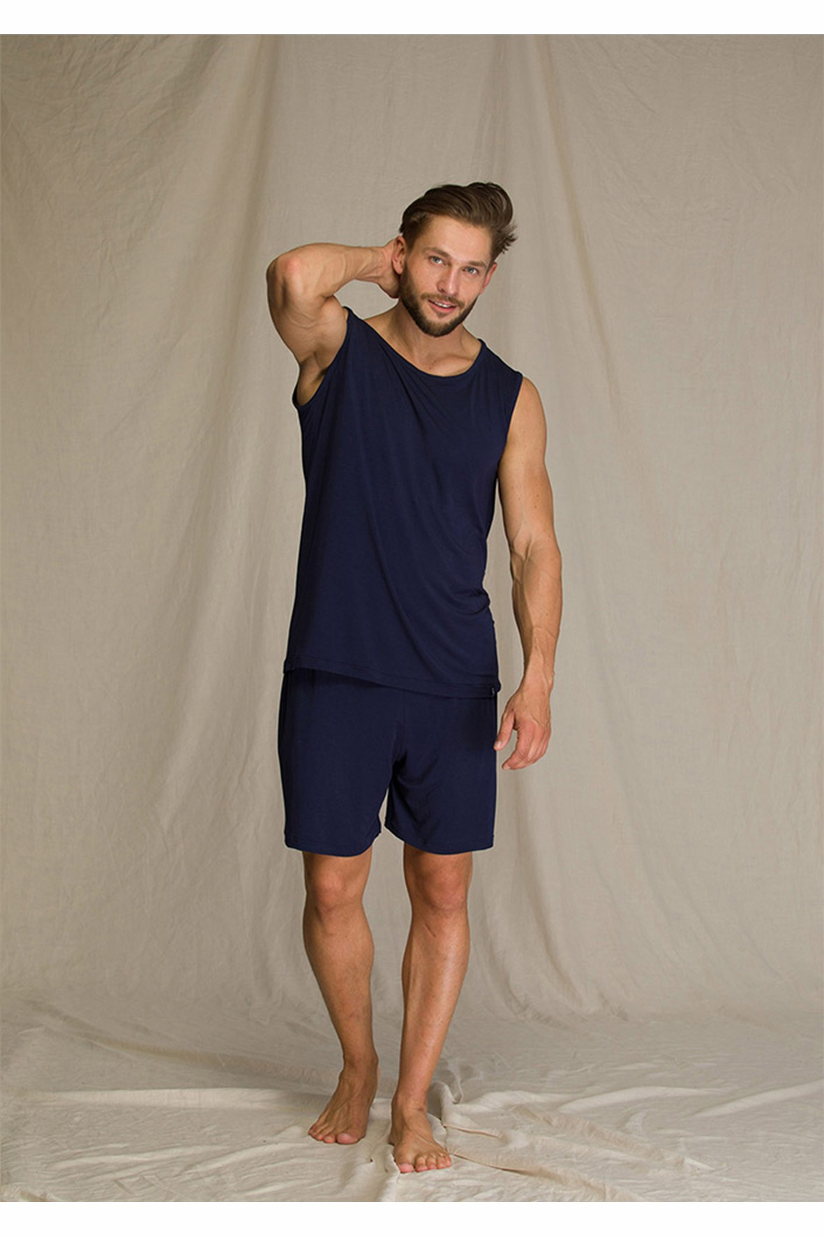 Bambusowa piżama męska