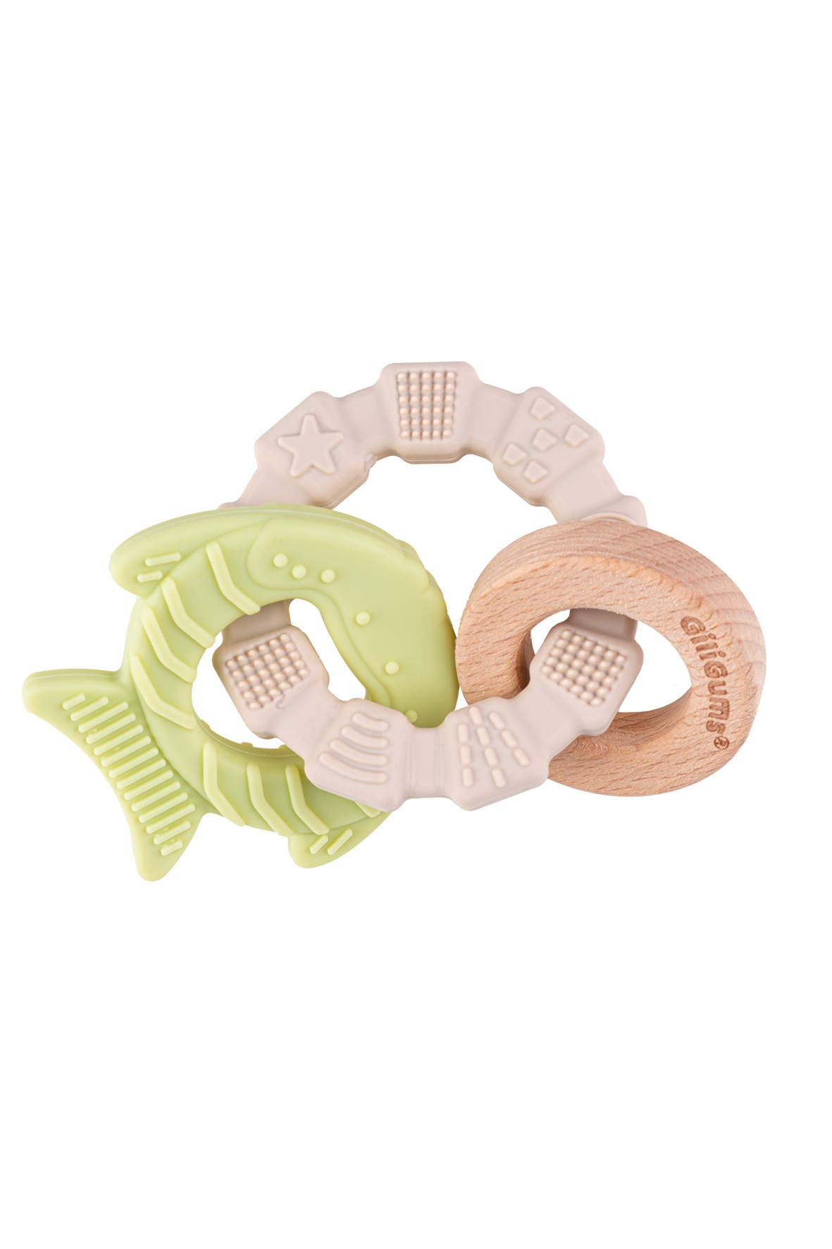 Silikonowy gryzak rybka GiliGums