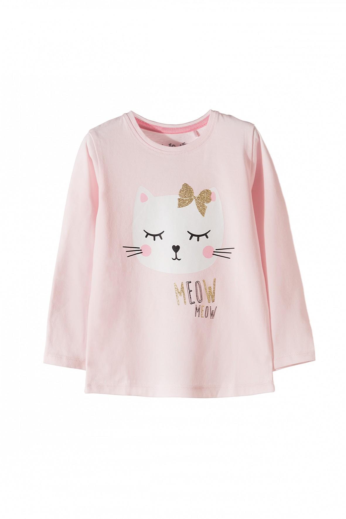 Bawełniana bluzka z kotkiem 3H3520