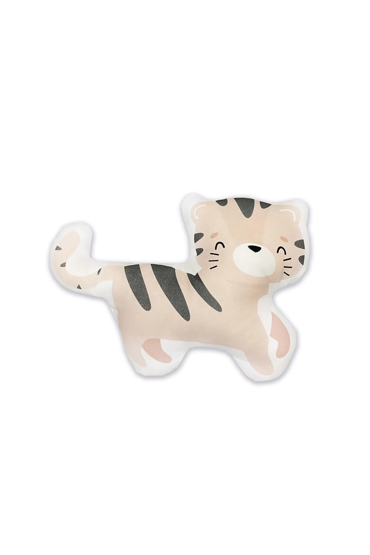 Bawełniana poduszka niemowlęca Tygrys z Safari 32x25 cm