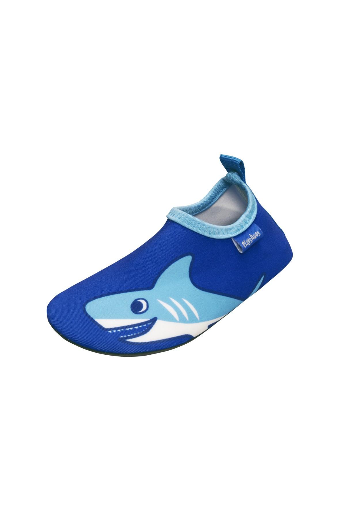 Buty kąpielowe- niebieskie z rekinem