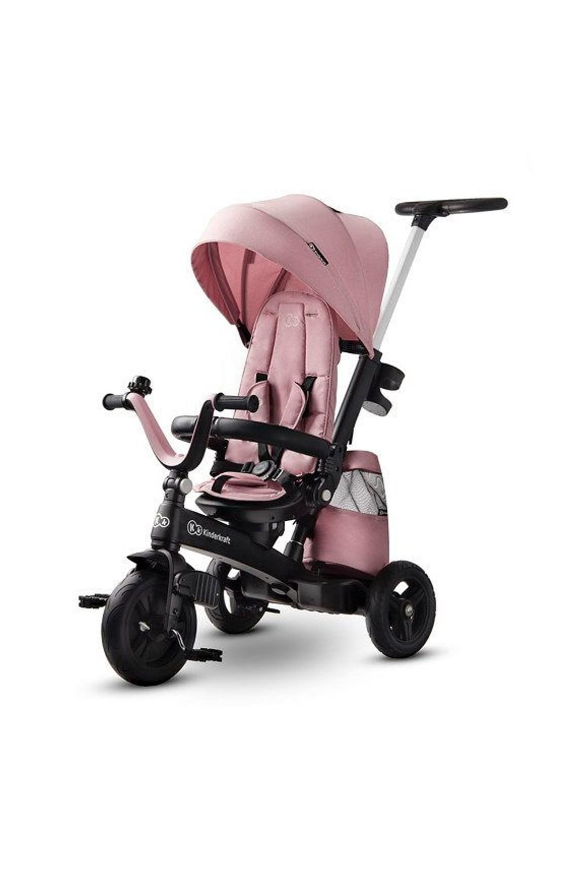 Rowerek trójkołowy- spacerówka Kinderkraft Easytwist Mauvelous pink