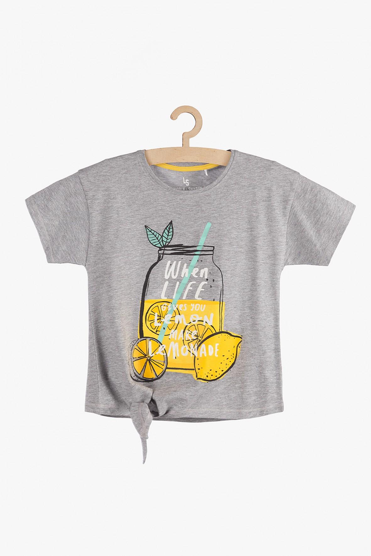 T-shirt dziewczęcy szary- Lemoniada