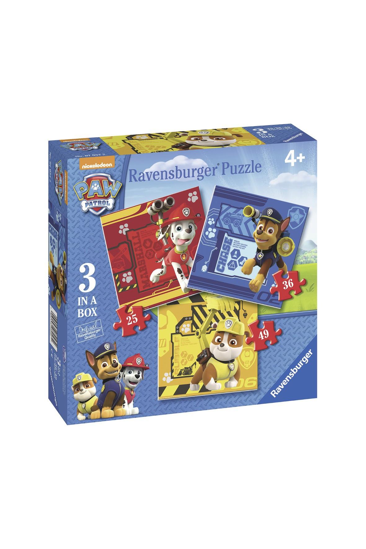 Puzzle dla dzieci 3w1 Psi Patrol 4+