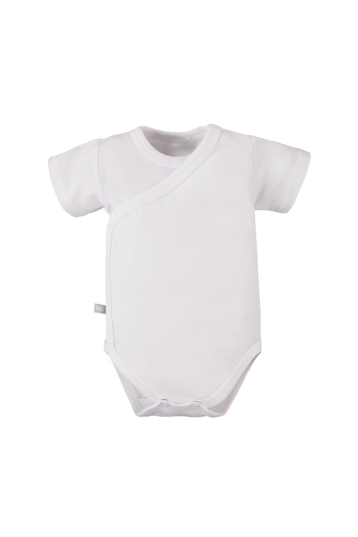 Body niemowlęce z krótkim rękawem kopertowe