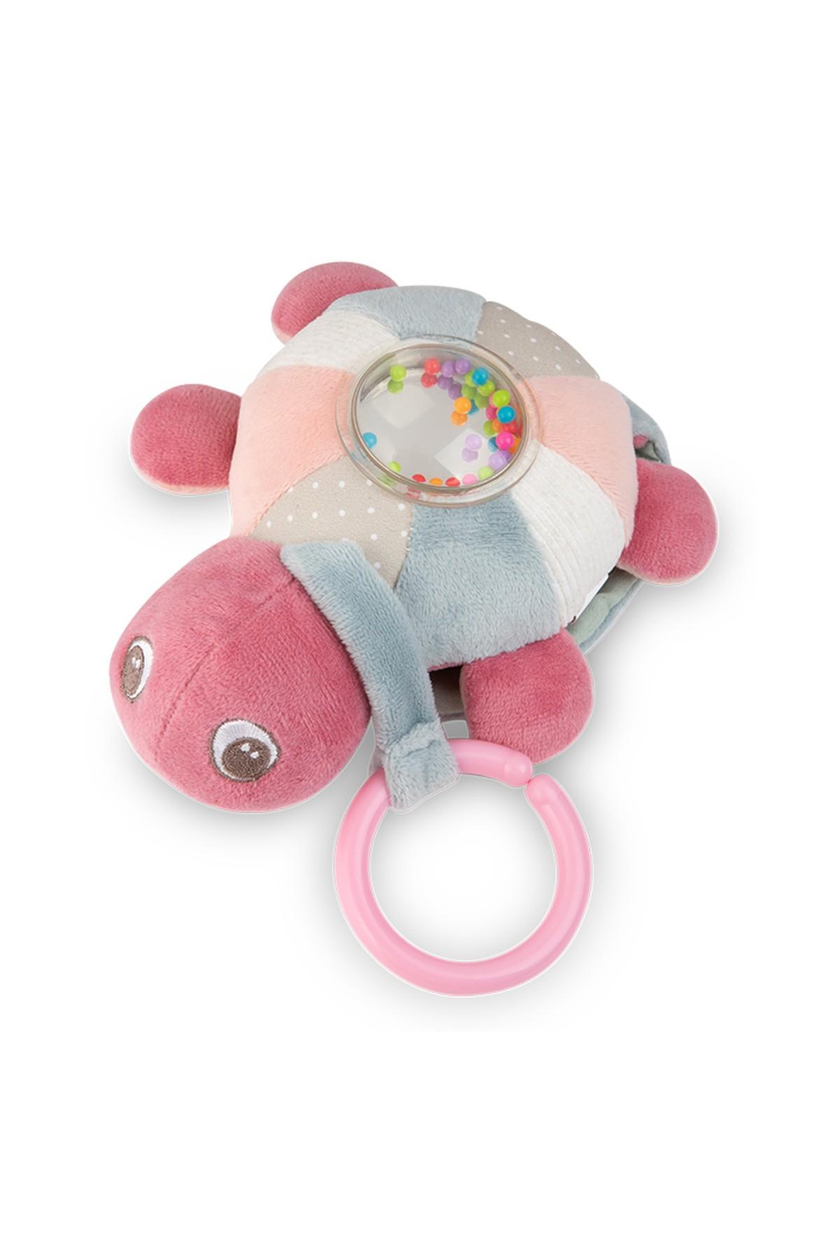 Zabawka edukacyjna z pozytywką i światełkami Żółw morski - róż