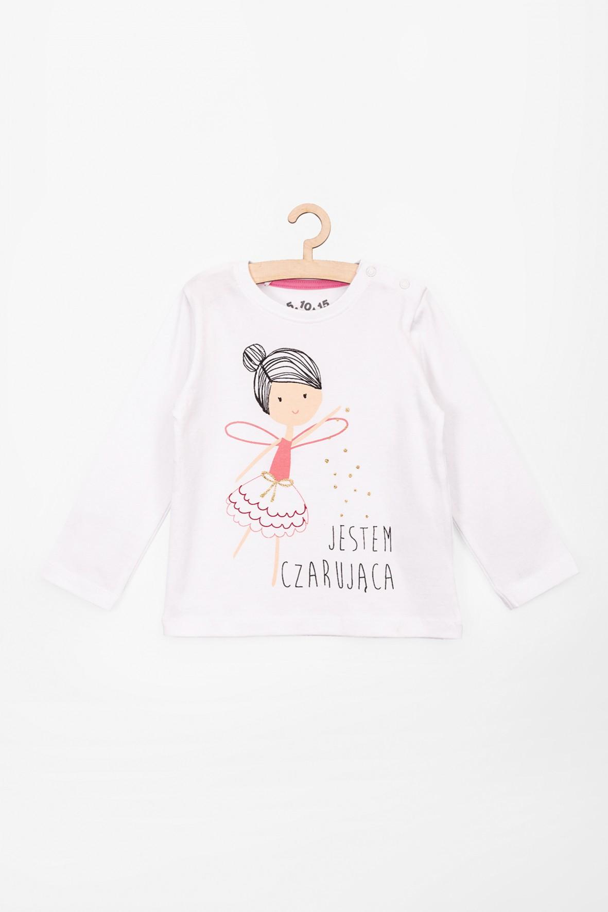 Bluzka dziewczęca bawełniana z napisem- Jestem Czarująca