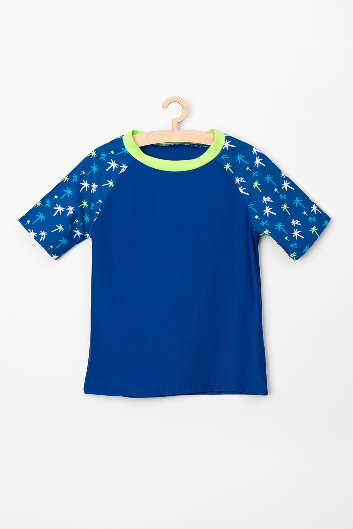 Granatowy t-shirt kąpielowy dla chłopca