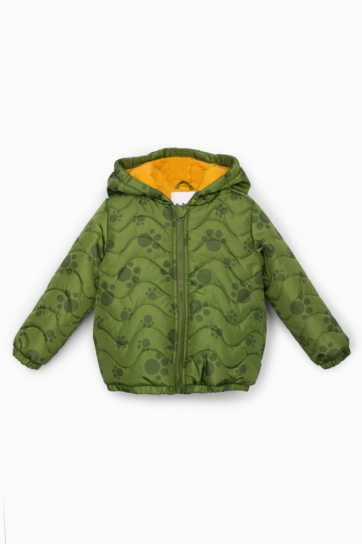 Kurtka przejściowa niemowlęca z kapturem w kolorze zielonym