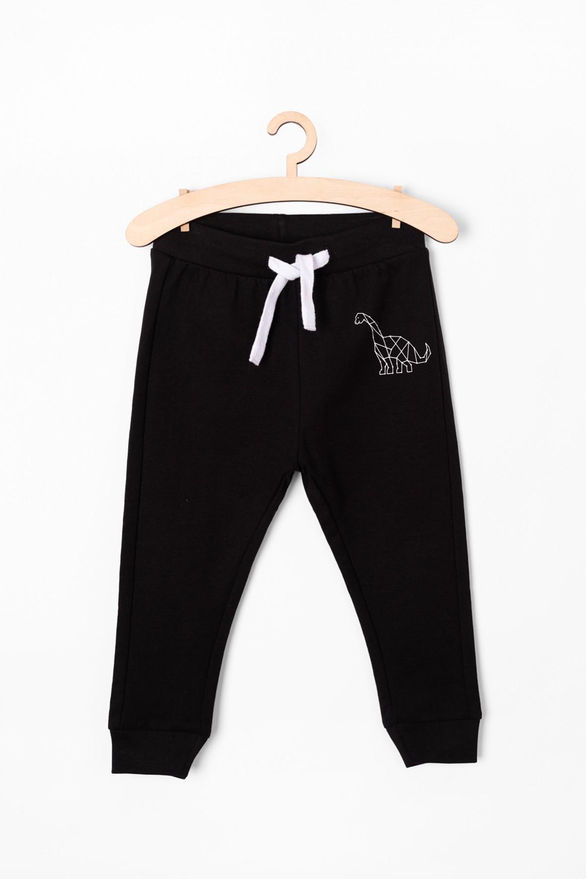Spodnie dresowe z dinozaurem - czarne