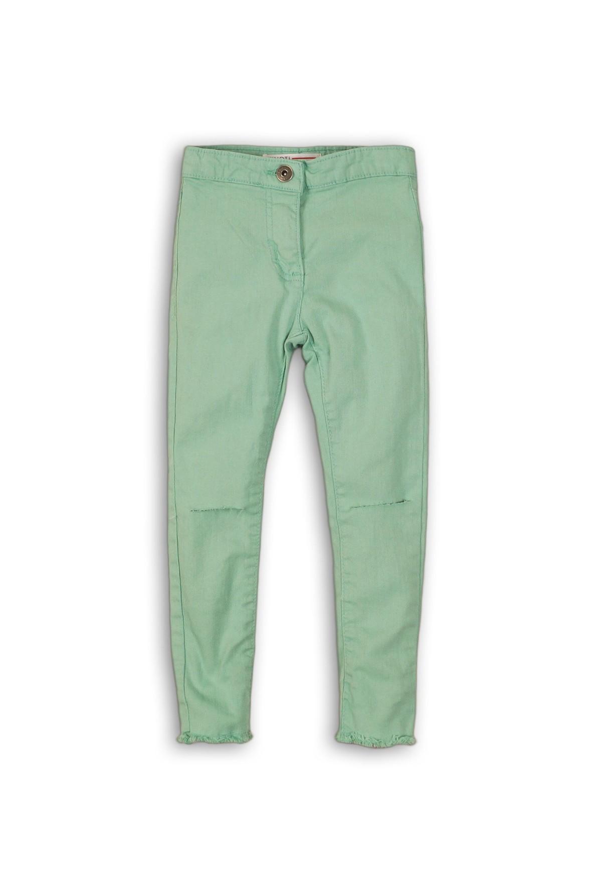 Jegginsy dziewczęce zielone z rozcięciami na kolanach