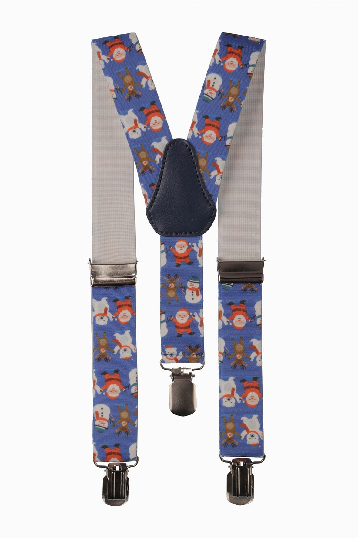 Szelki do spodni- niebieskie w Mikołaje