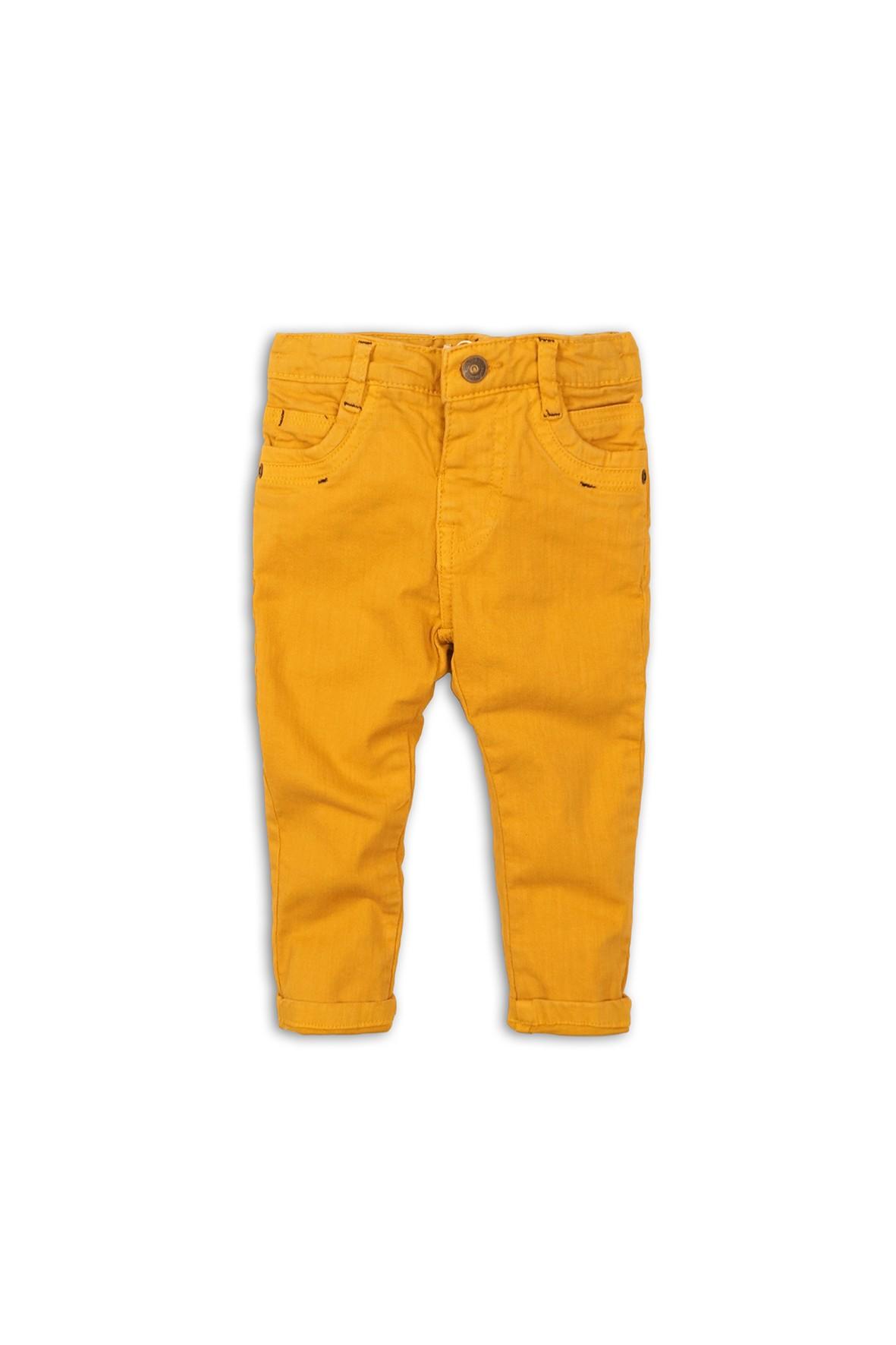 Spodnie długie chłopięce - żółte