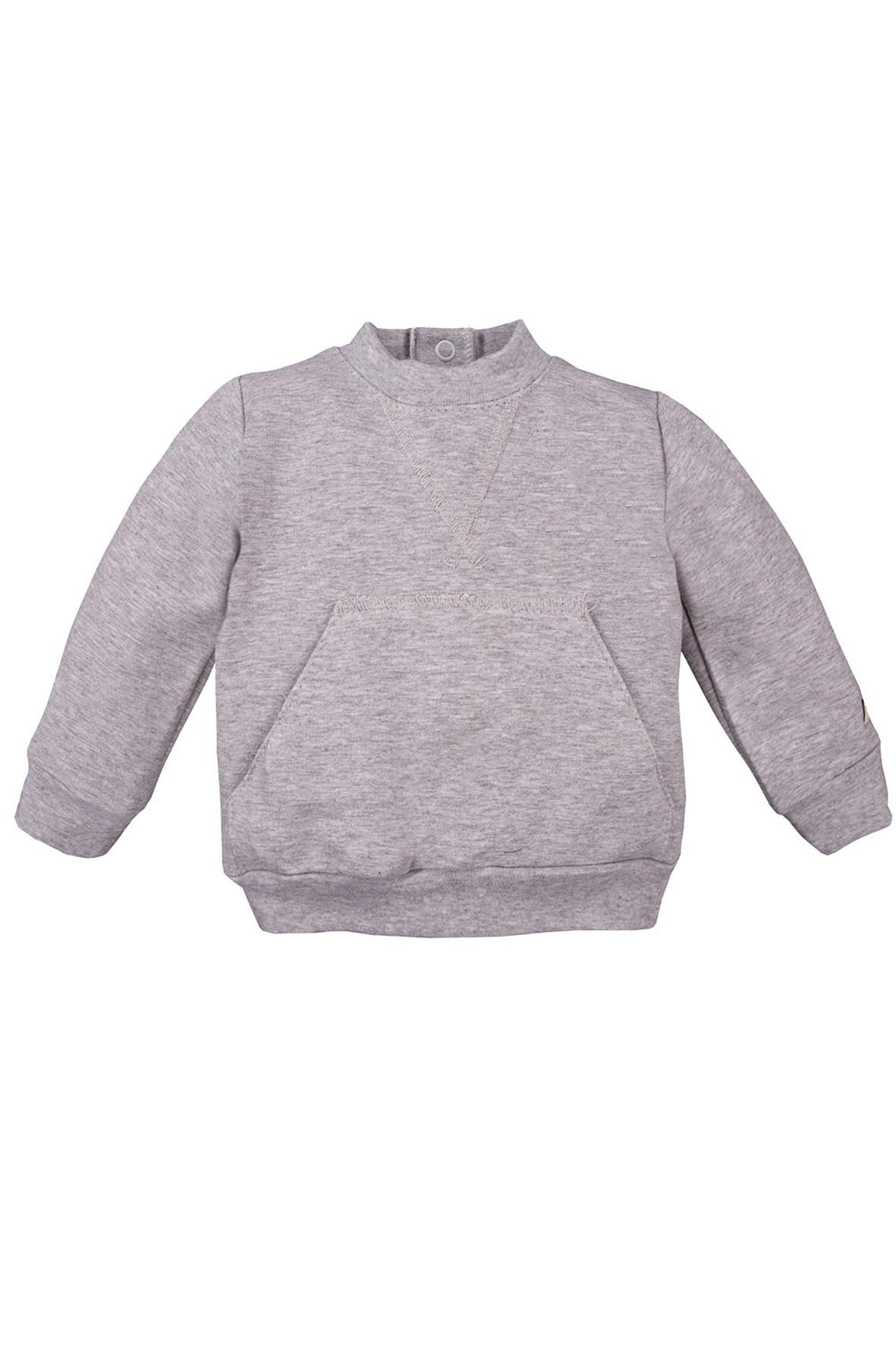 Bawełniana bluza kangurka - szara