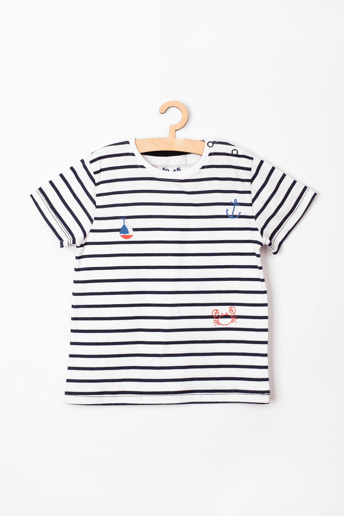 T-shirt niemowlęcy w marynarskie paski