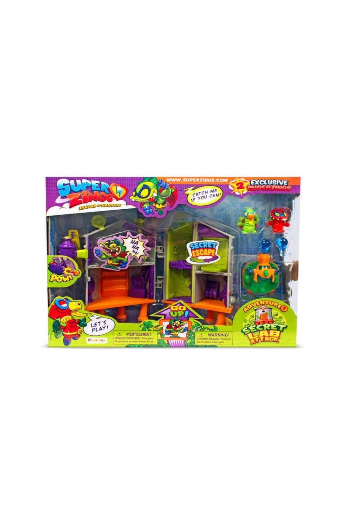 Magic Box Super Zings seria 3 Sekretne Laboratorium + 2 figurki Superzings