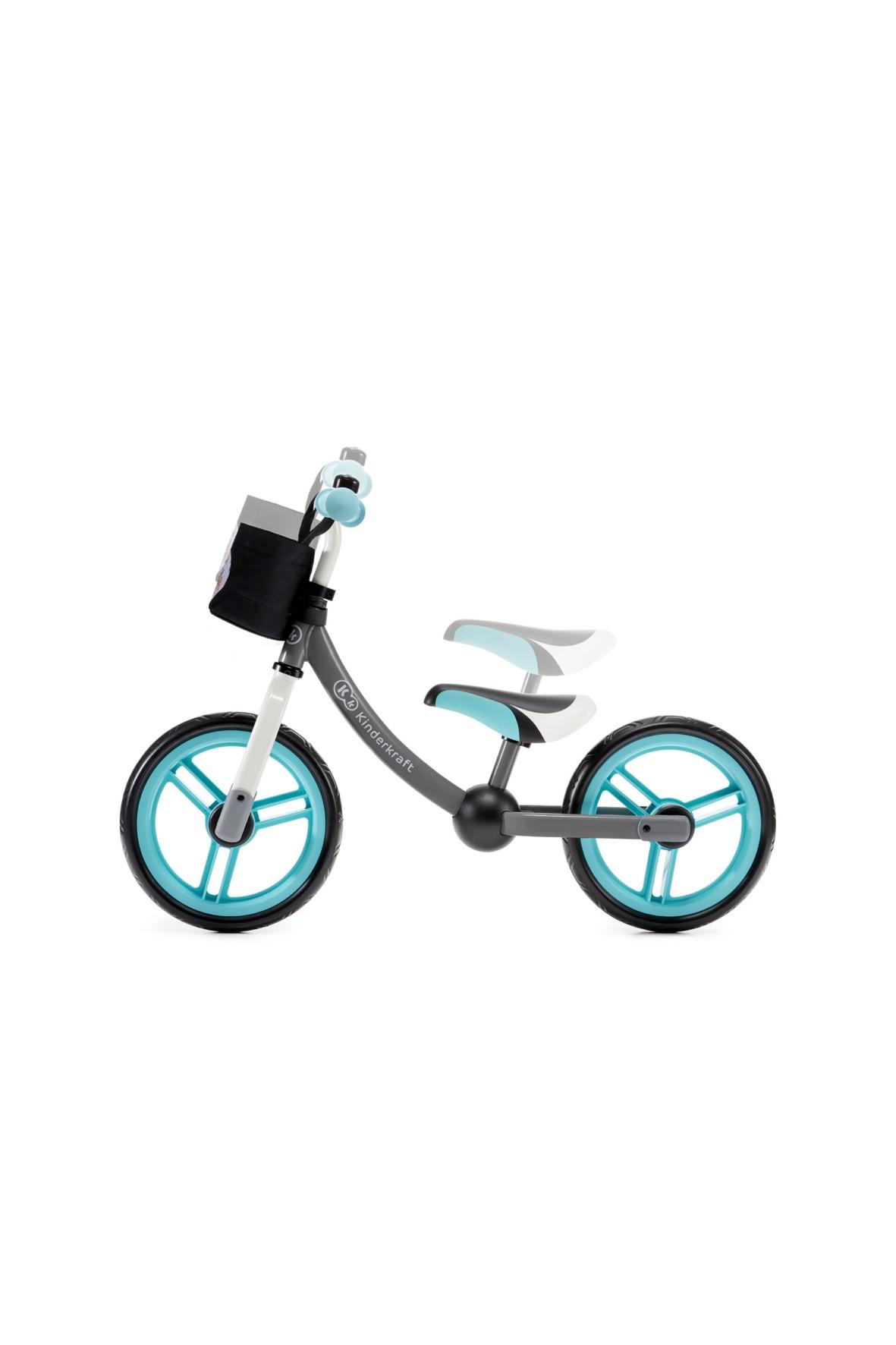 Rowerek biegowy 2WAY z akcesoriami- niebieski