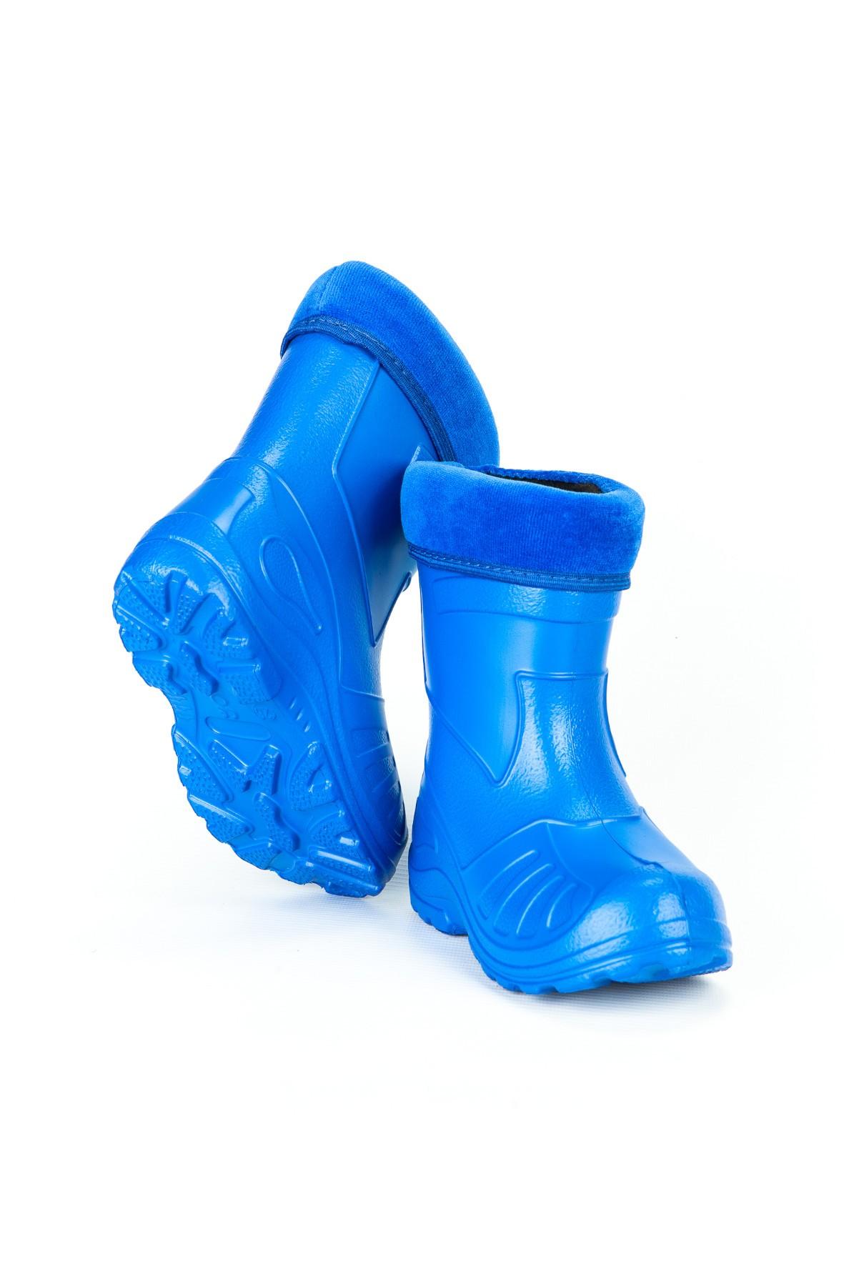 Kalosze dziecięce ocieplane - niebieskie
