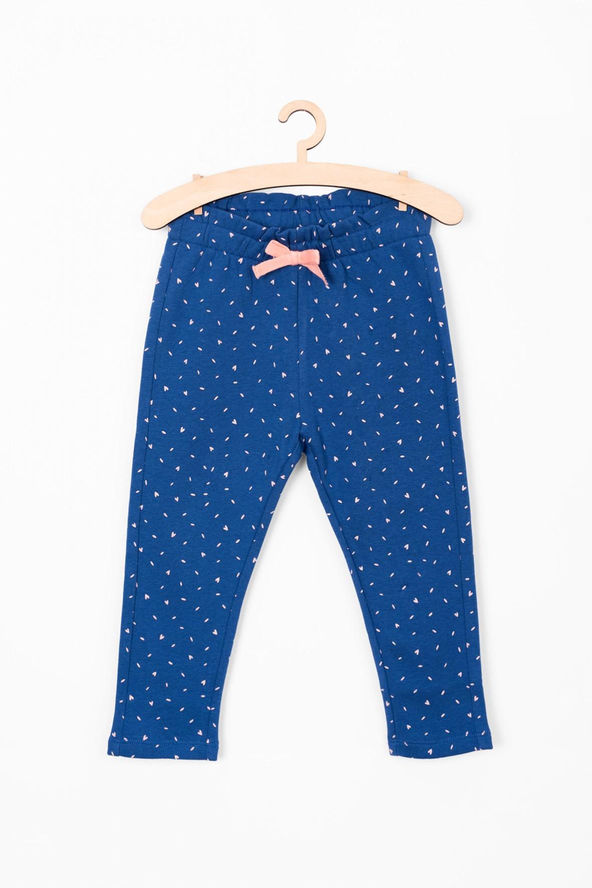 Spodnie niemowlęce niebieskie we wzorki