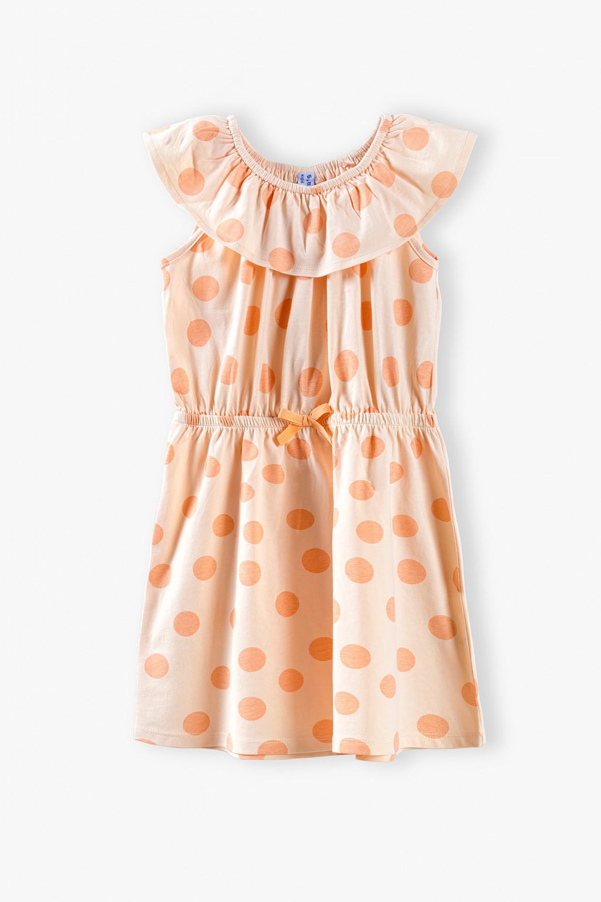 Sukienka na lato- bawełniana w grochy