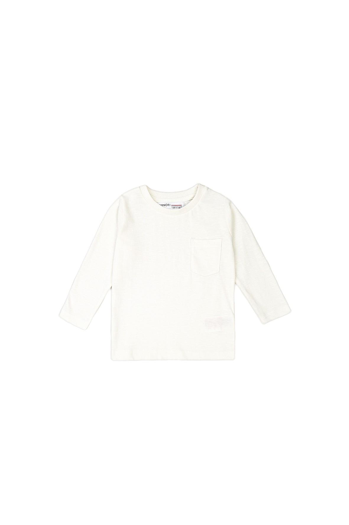 Bluzka chłopięca bawełniana biała z kieszenią