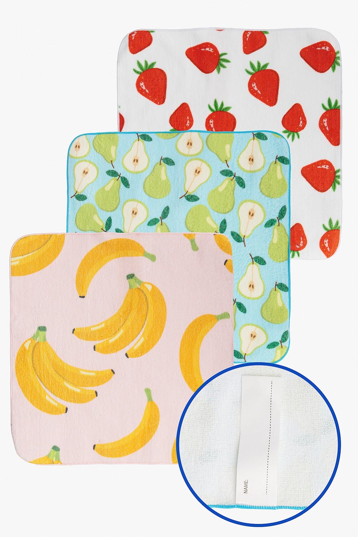 Ręczniki bawełniane w owoce 30x30cm 3-pack