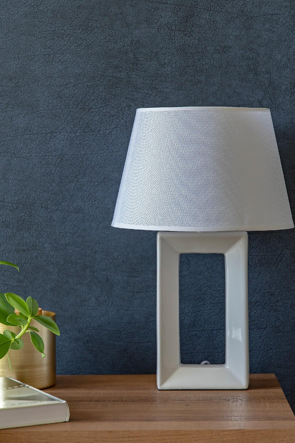 Lampa stołowa z podstawa ceramiczną JANE, wys 44 cm
