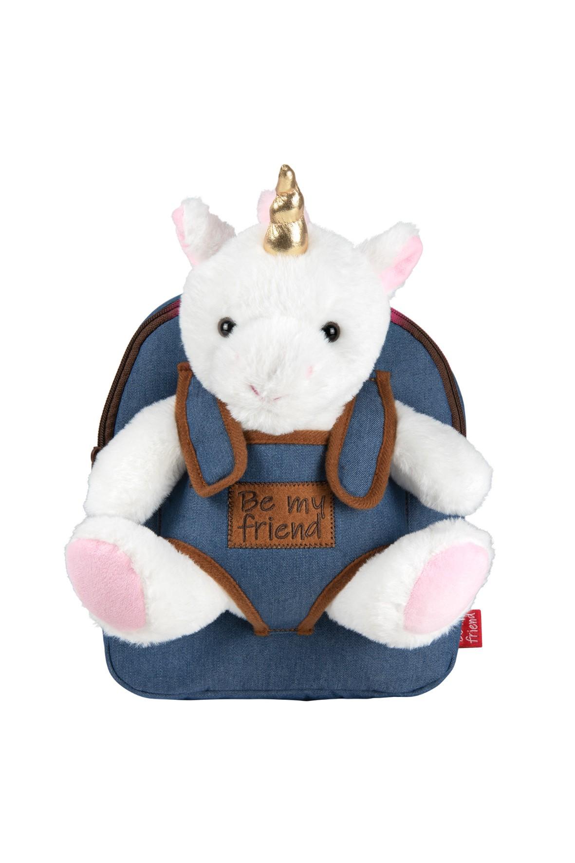 Plecak Denim z przytulanką - Tiara Unicorn wiek 2+