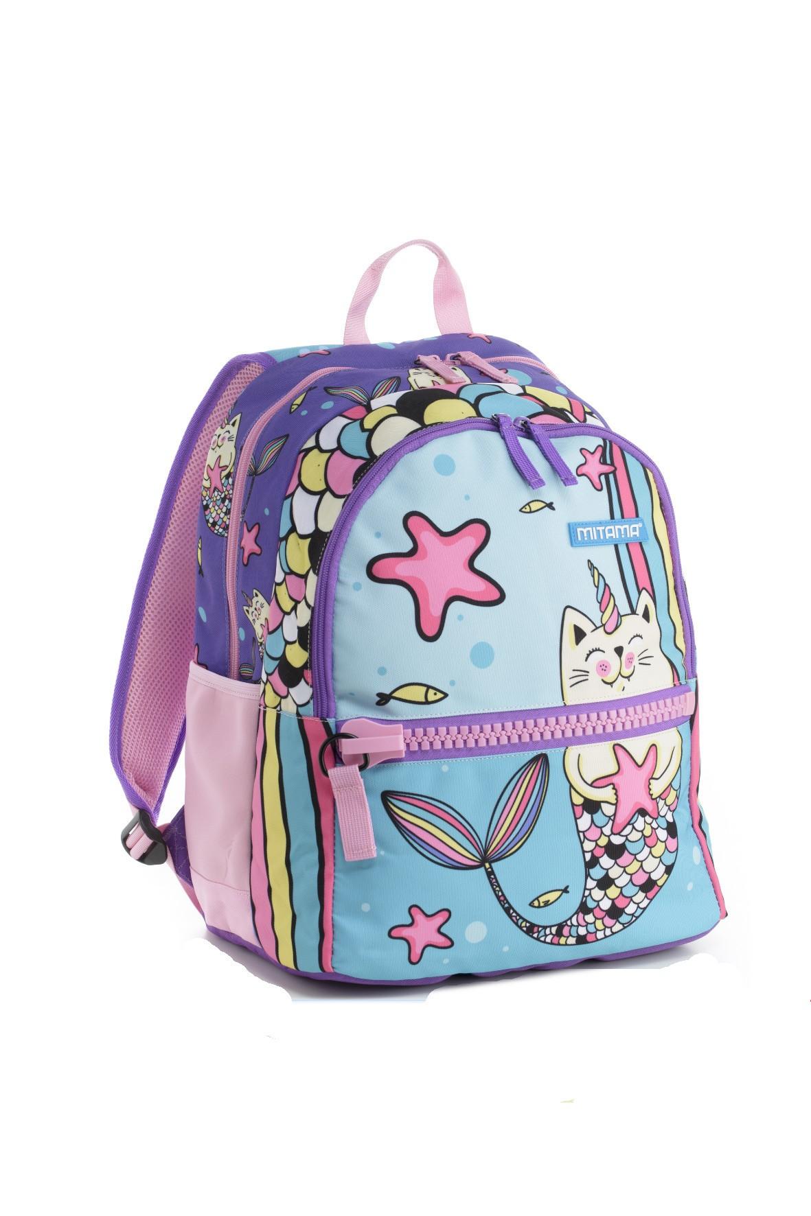 Plecak dziewczęcy szkolny - koto-jednorożec