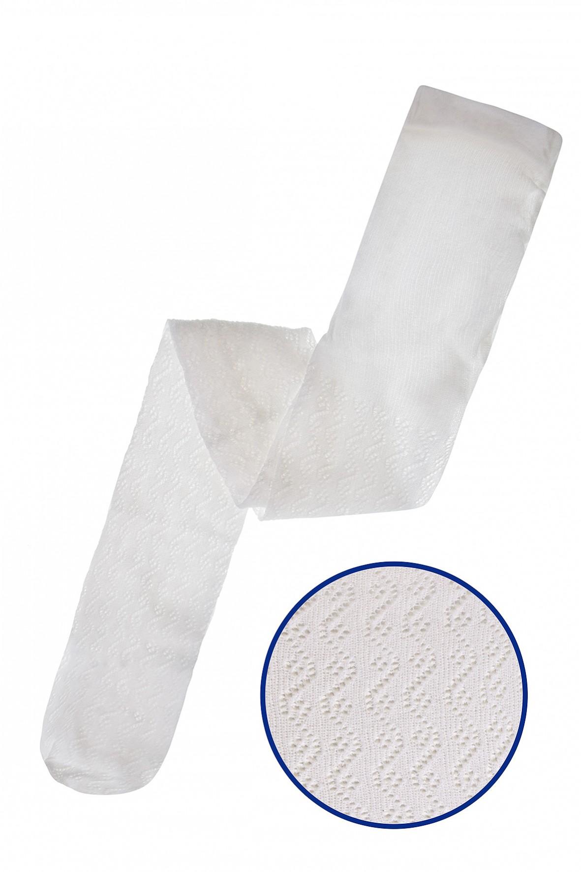Białe rajstopy dla dziewczynki