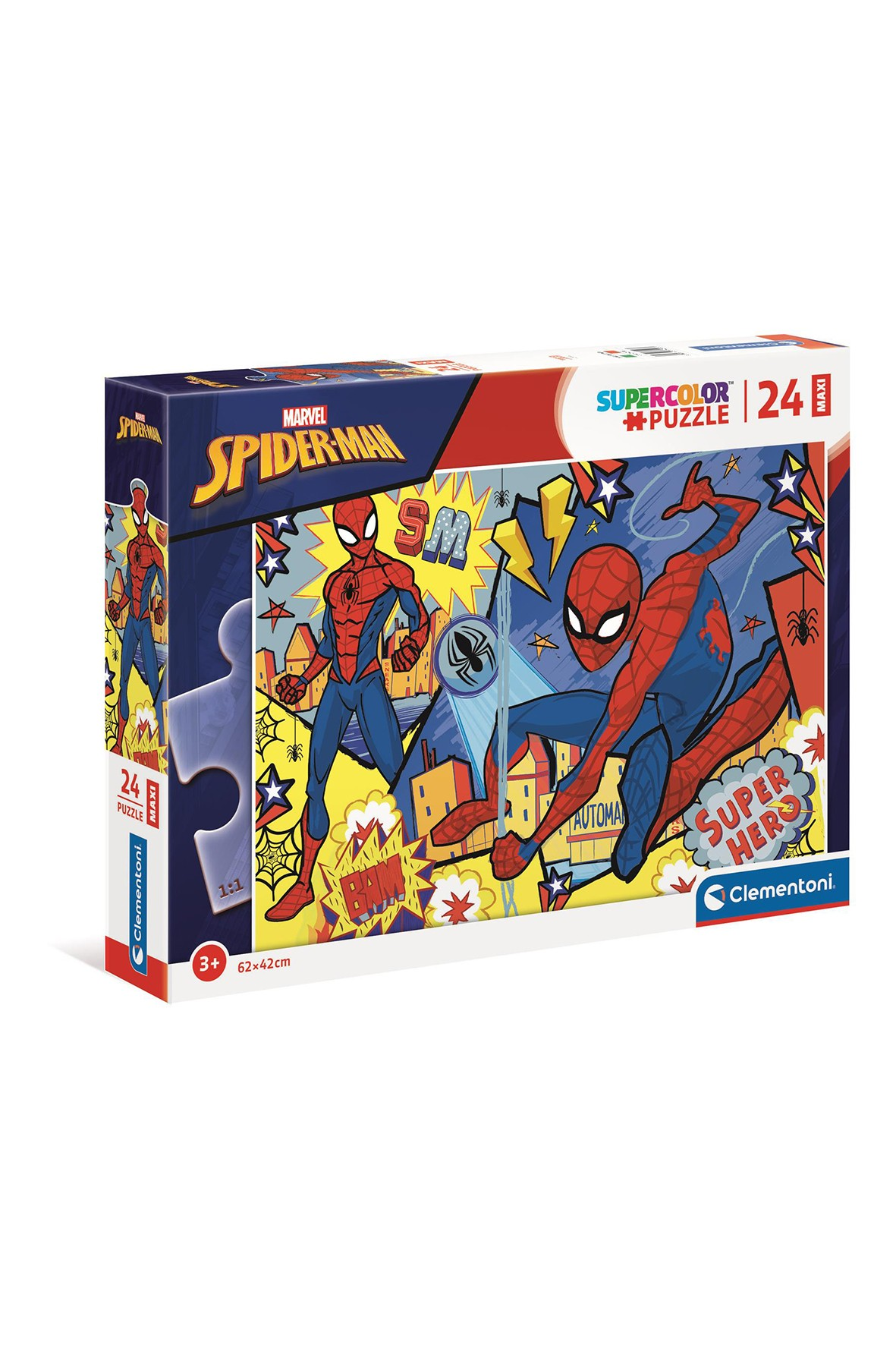 Puzzle  Maxi Super Color Spider Man  - 24 elementy wiek 3+