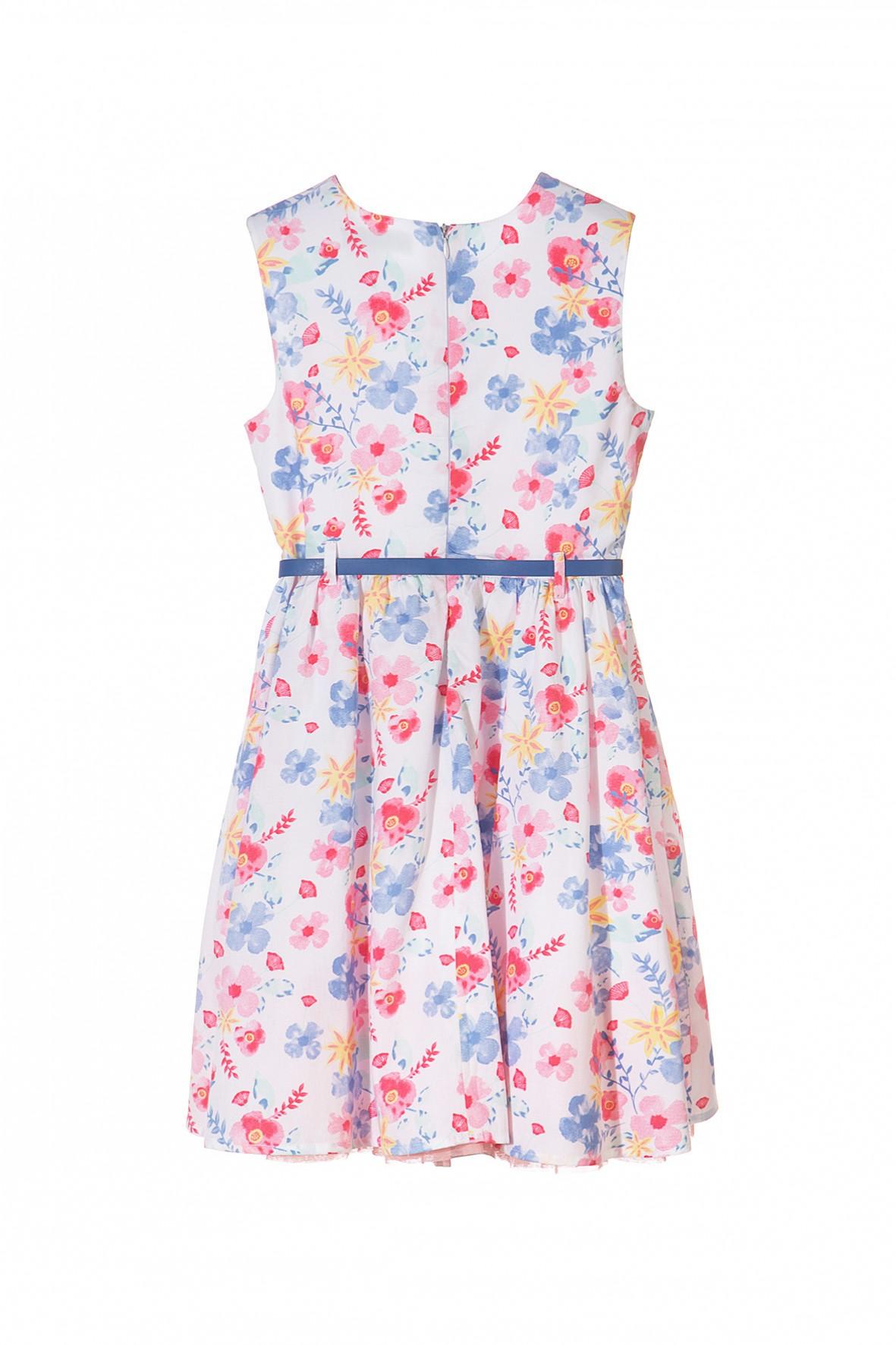 c79fe10936 Elegancka sukienka w kwiaty dla dziewczynki- ubranie na specjalne okazje