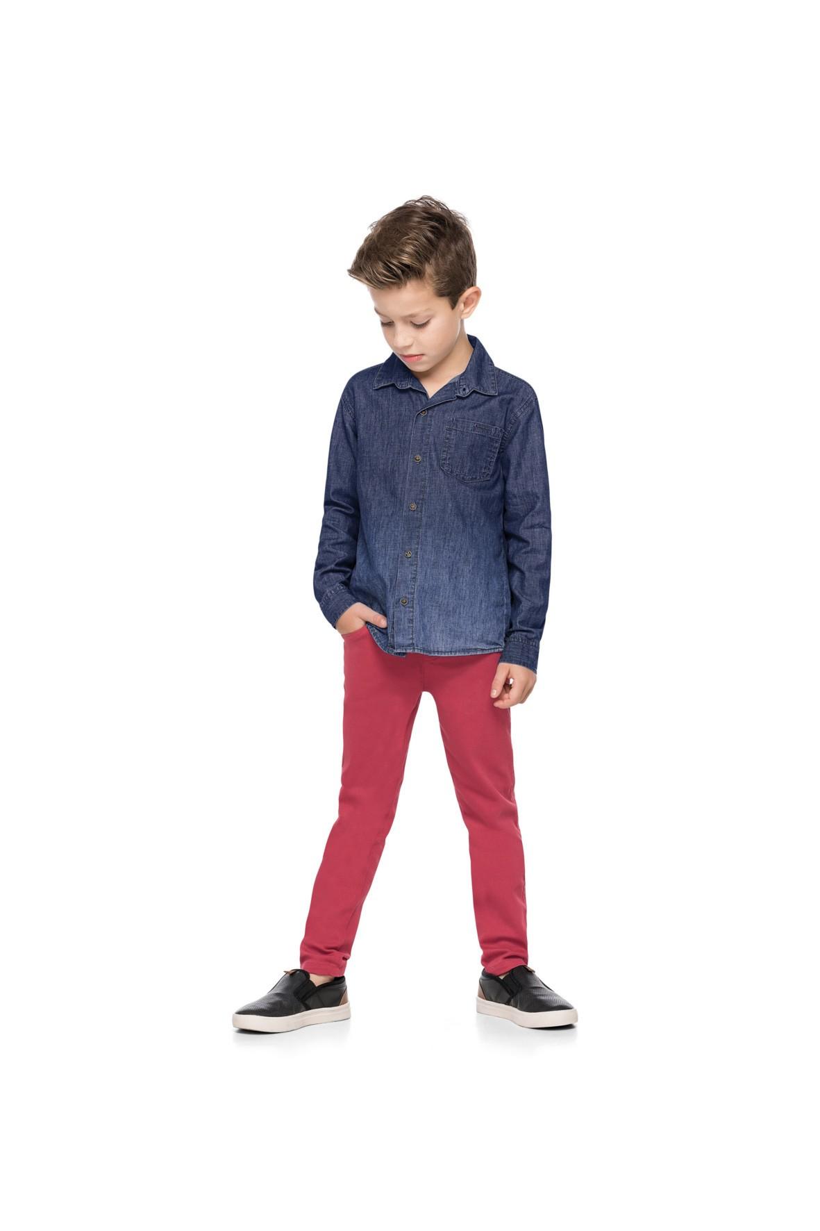 Koszula chłopięca jeansowa