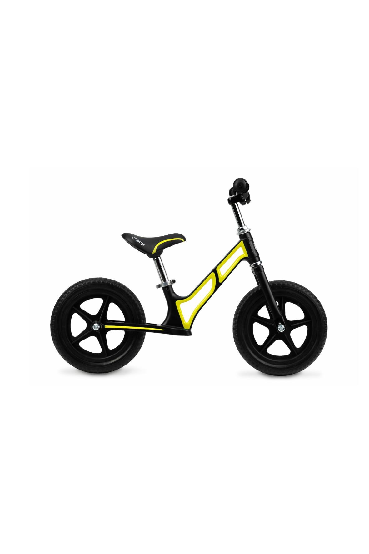 MoMi MOOV superlekki magnezowy rowerek biegowy limonkowy