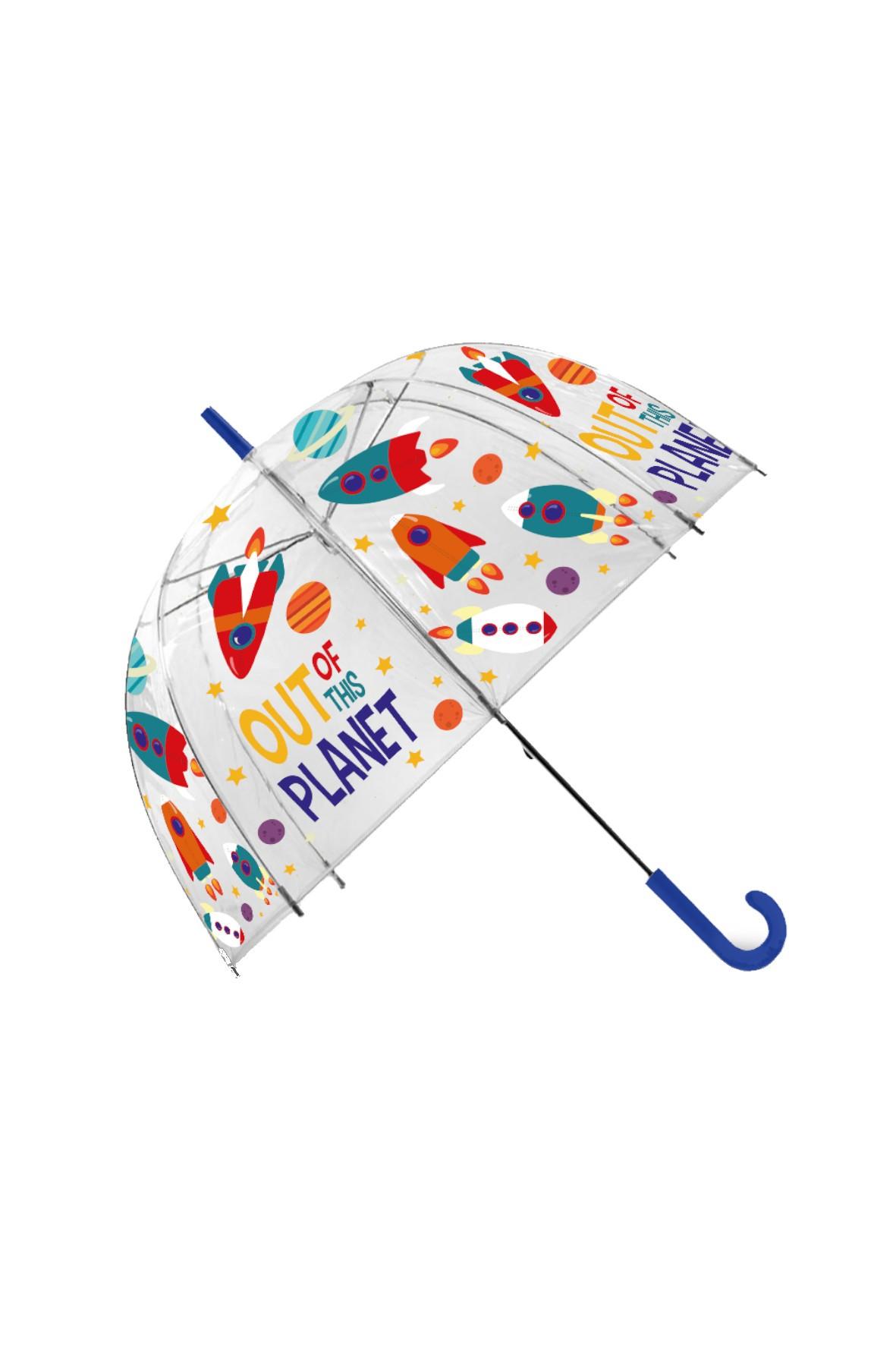 Parasolka przezroczysta, manualna,  Out Planet