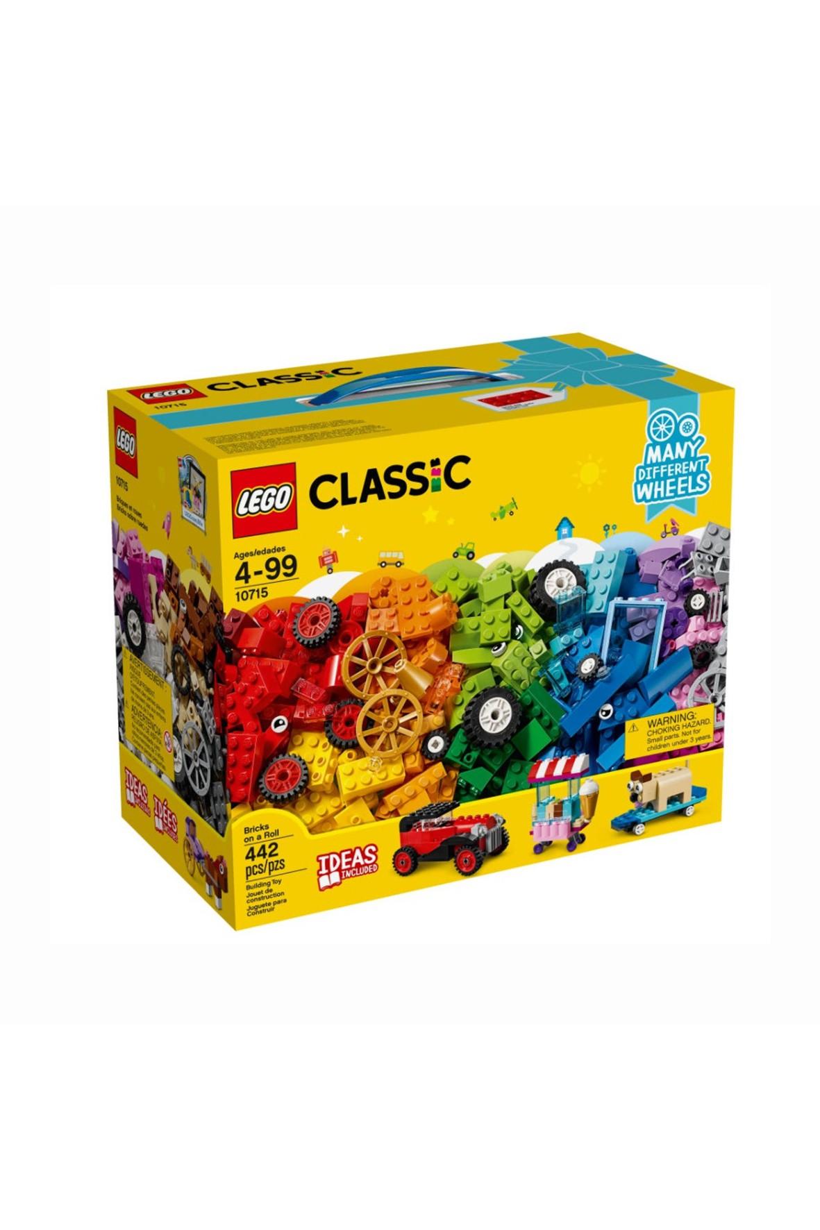 Lego Classic 10715   - Klocki na kółkach - 442 elementy wiek 4+