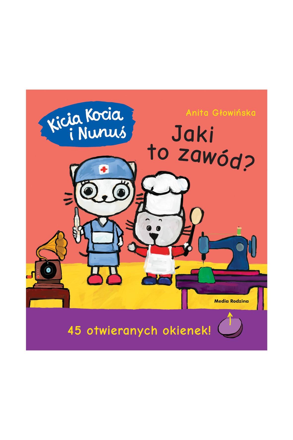 Książka dla dzieci- Kicia Kocia i Nunuś. Jaki to zawód? - książeczka z okienkami