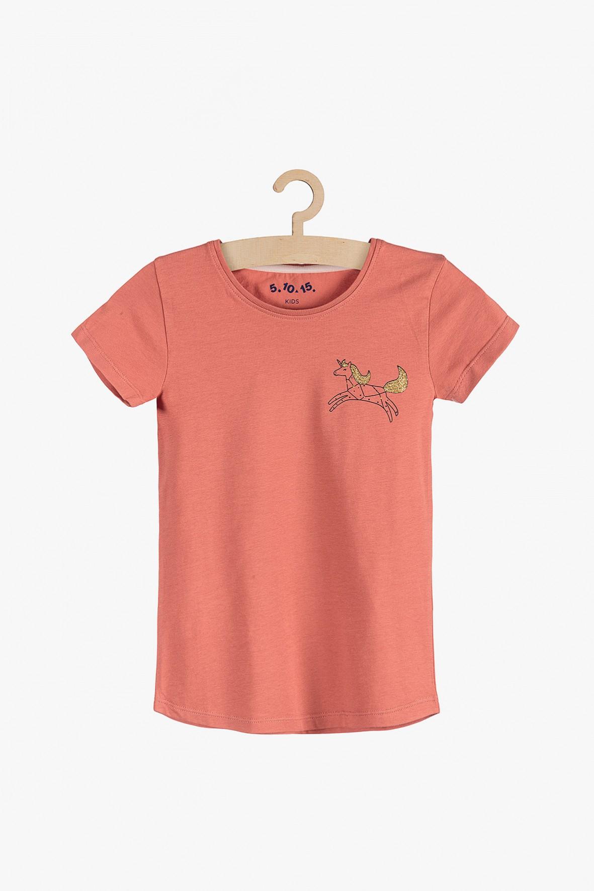 T-shirt dziewczecy z jednorożcem