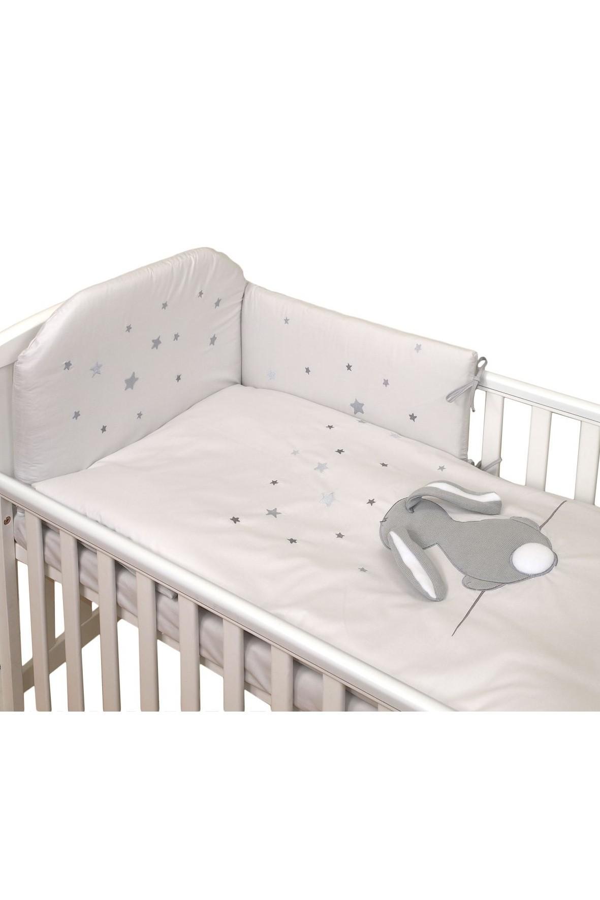 Pościel dla dzieci Amy 3-elementy 135x100 Fluffy Grey