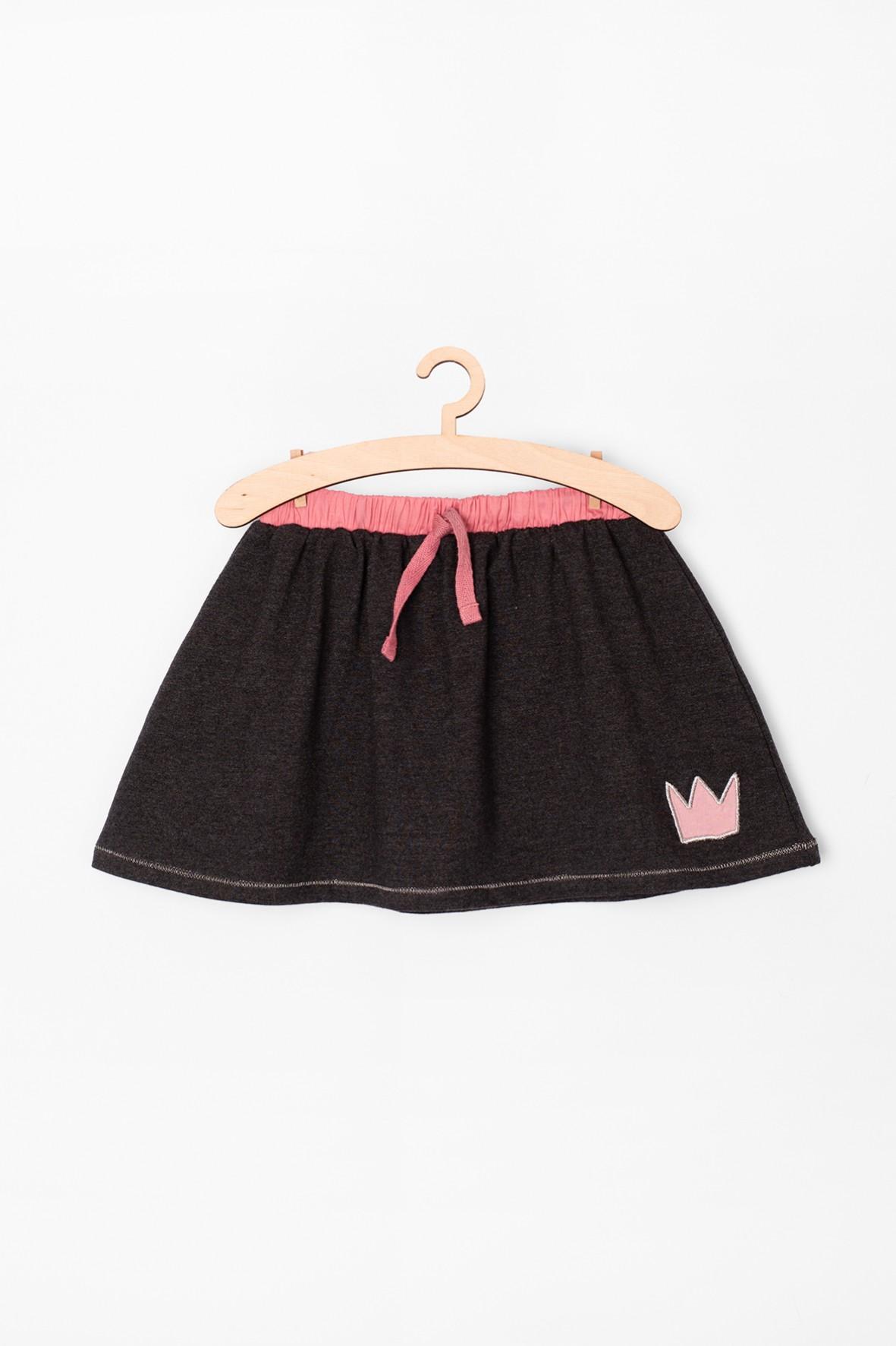 Spódnica dla niemowlaka- szara z różowymi elementami
