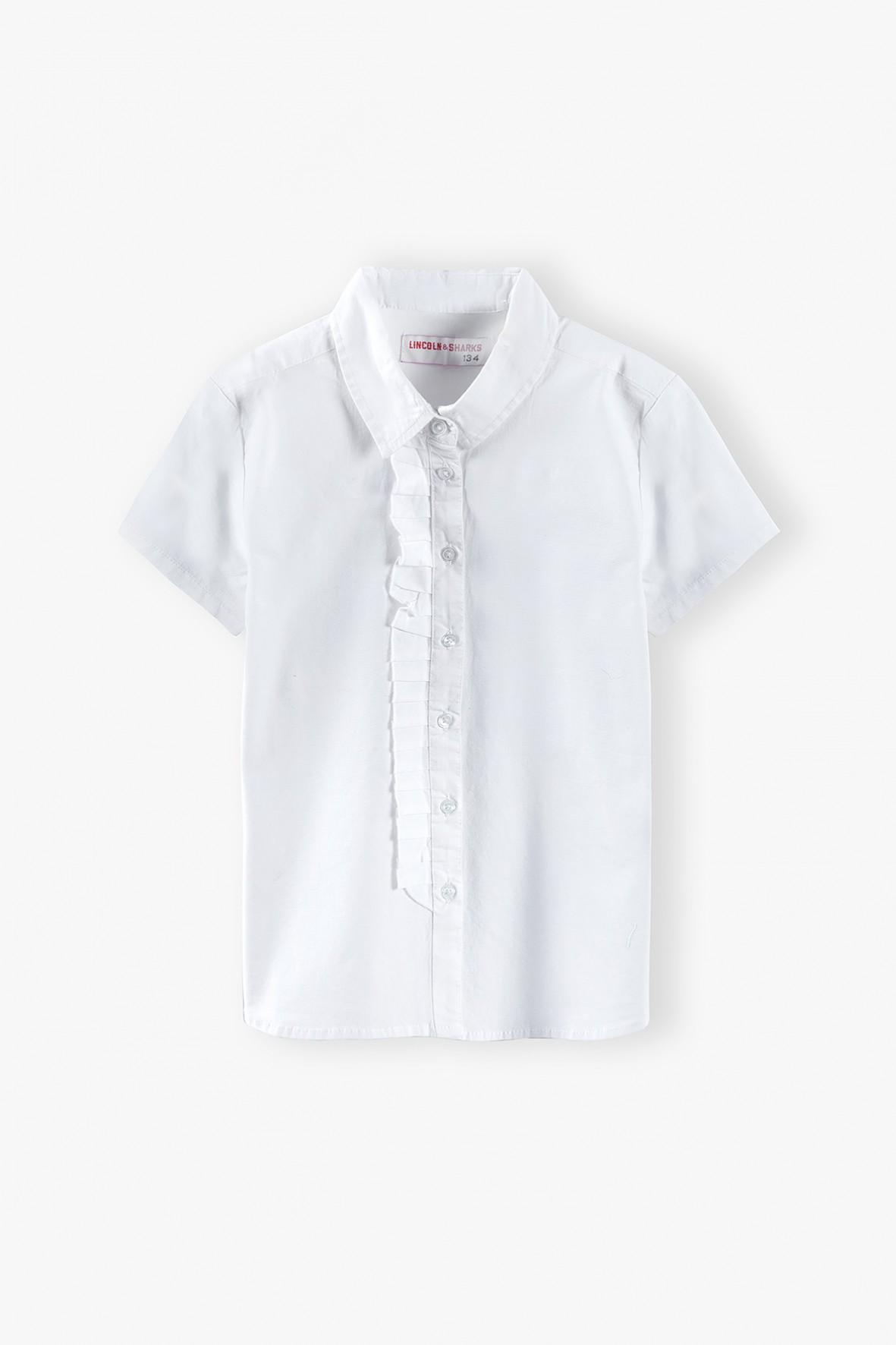 Elegancka biała koszula dla dziewczynki