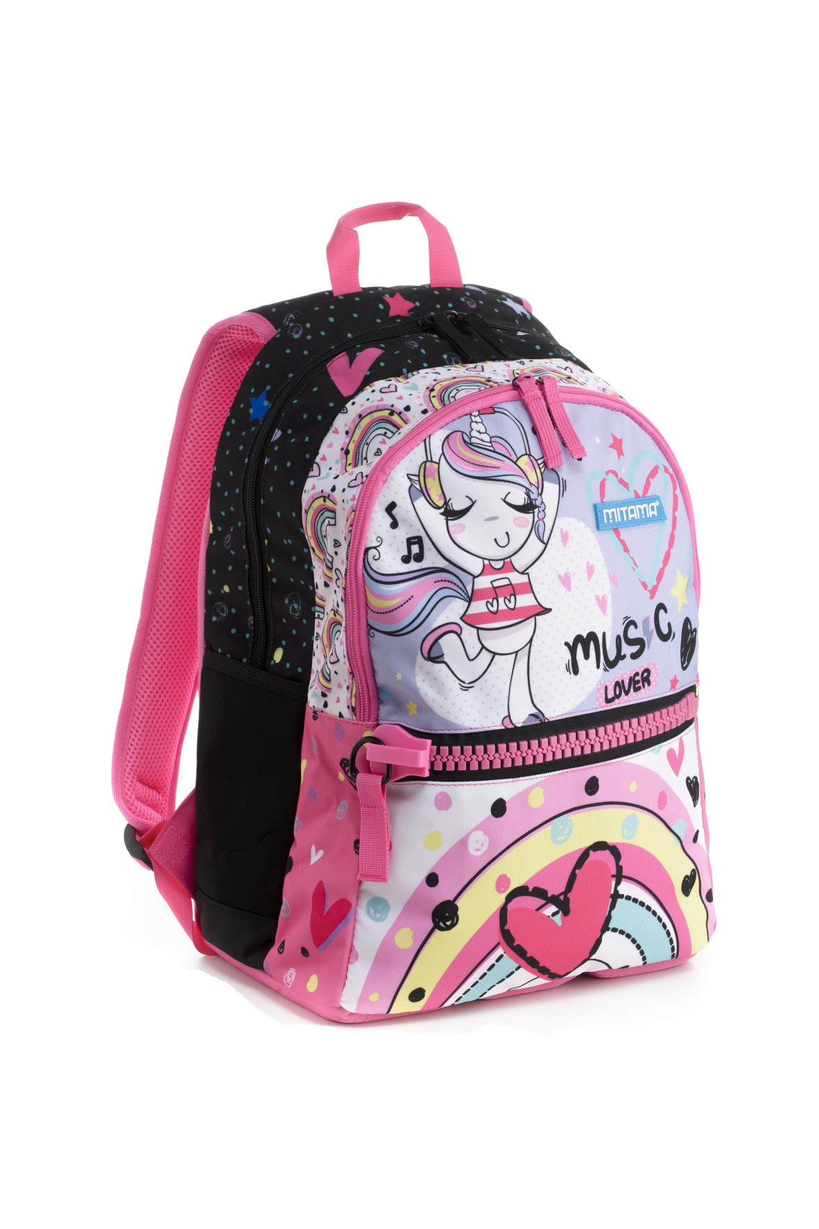 Plecak dziewczęcy szkolny - różowy