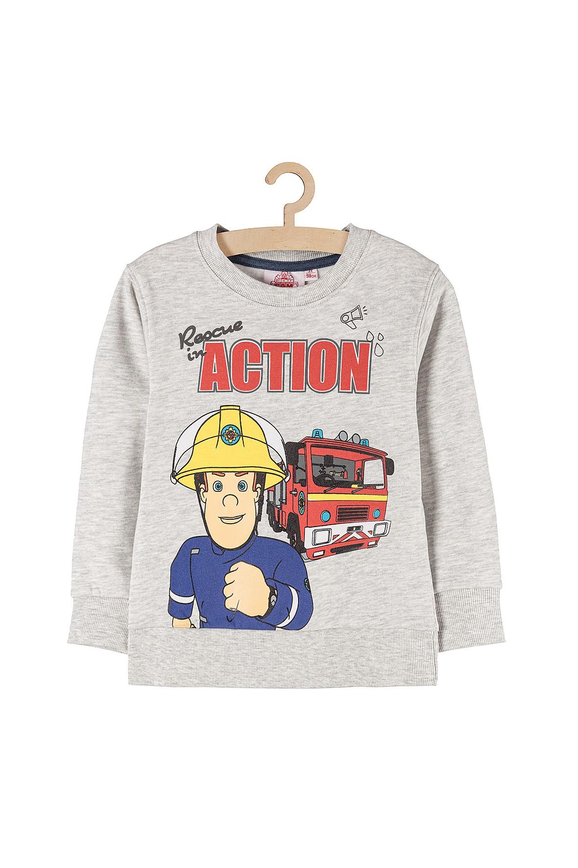 Bluza dresowa dla chłopca Strażak Sam szara