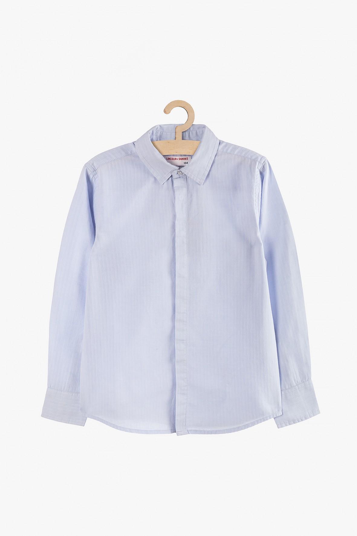 Elegancka koszula chłopięca rozpinana-niebieska